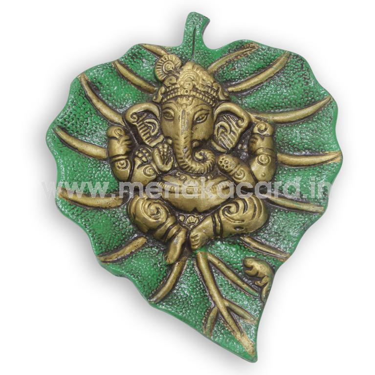 Leaf ganesha Meeena Small