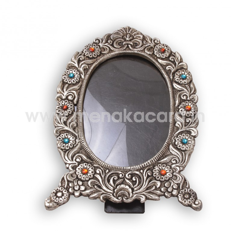 Photo Frame Oval Stones