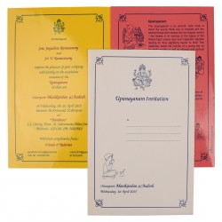 Traditional Pink And Yellow Invitation Cards